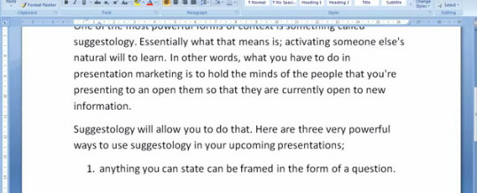 Presentation Marketing & Suggestology